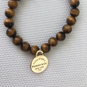 Tiffany & Co Tiger Eye Beaded Bracelet
